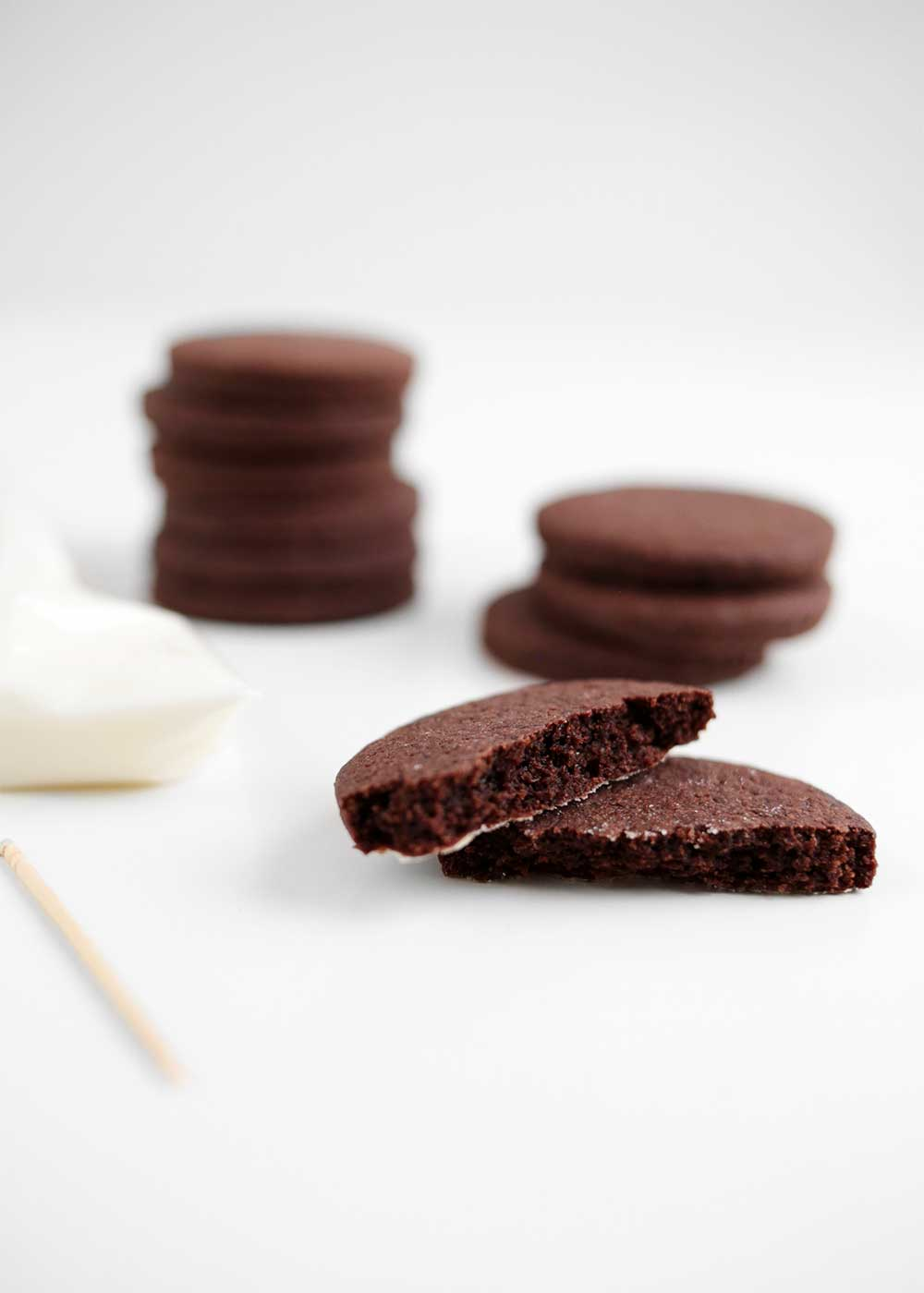 Chocolate Cardamom Rye Cut-Out Cookies from the faux martha
