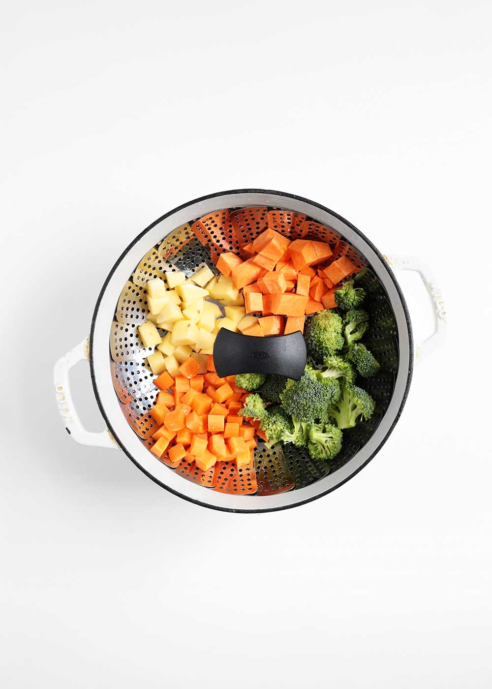 oxo steamer basket to make baby food from the faux martha