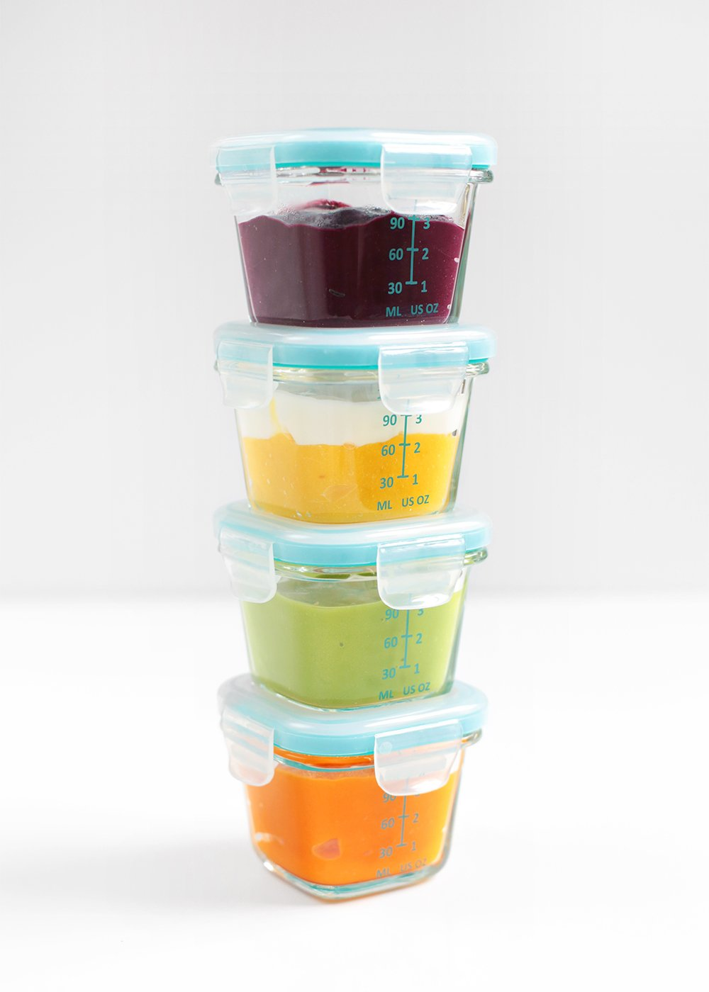 colorful homemade baby food from the faux martha