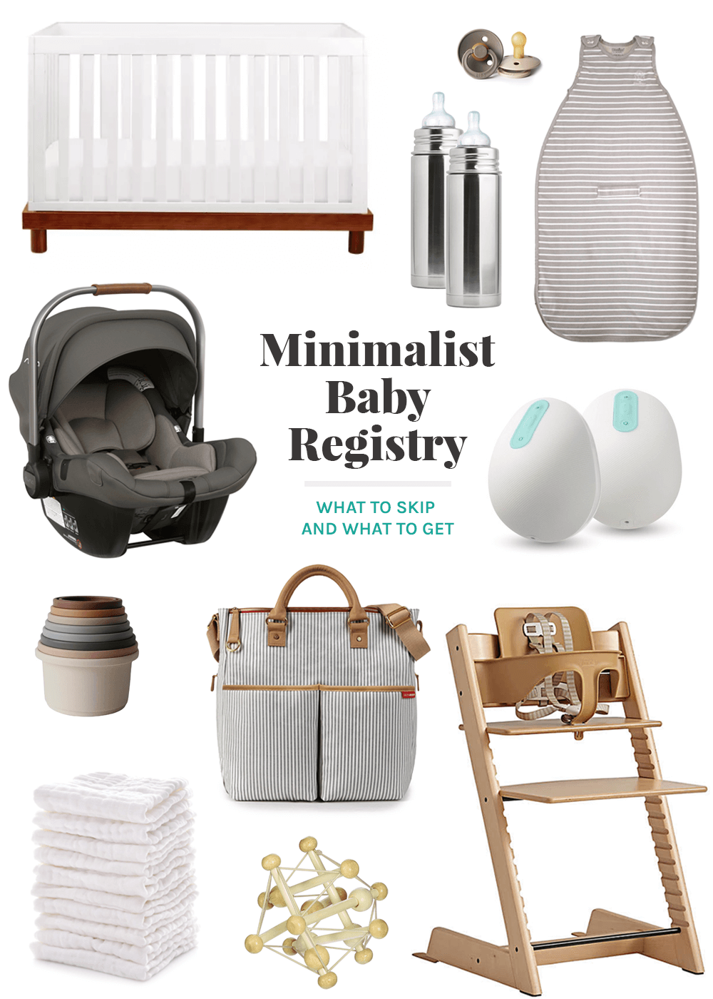 minimalist baby registry from the faux martha