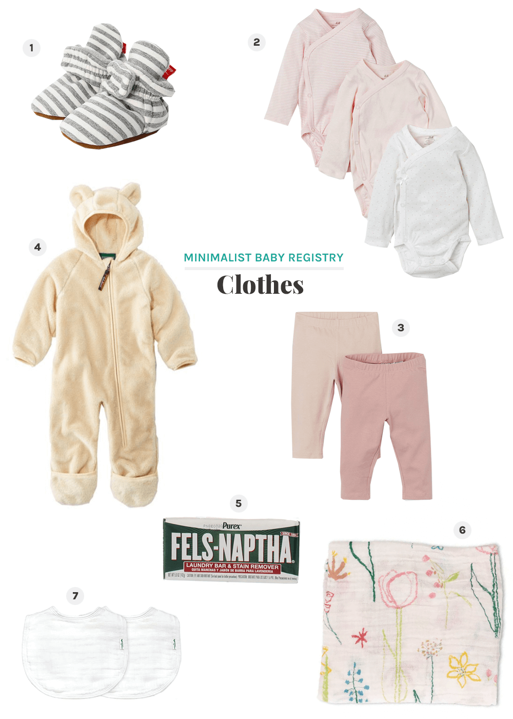 minimalist baby registry for clothes from the faux martha