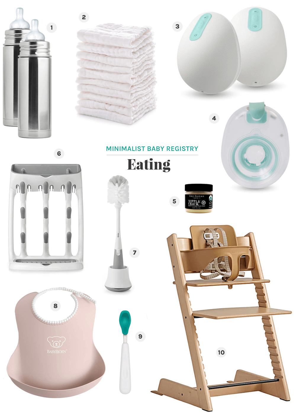 eating minimalist baby registry from the faux martha