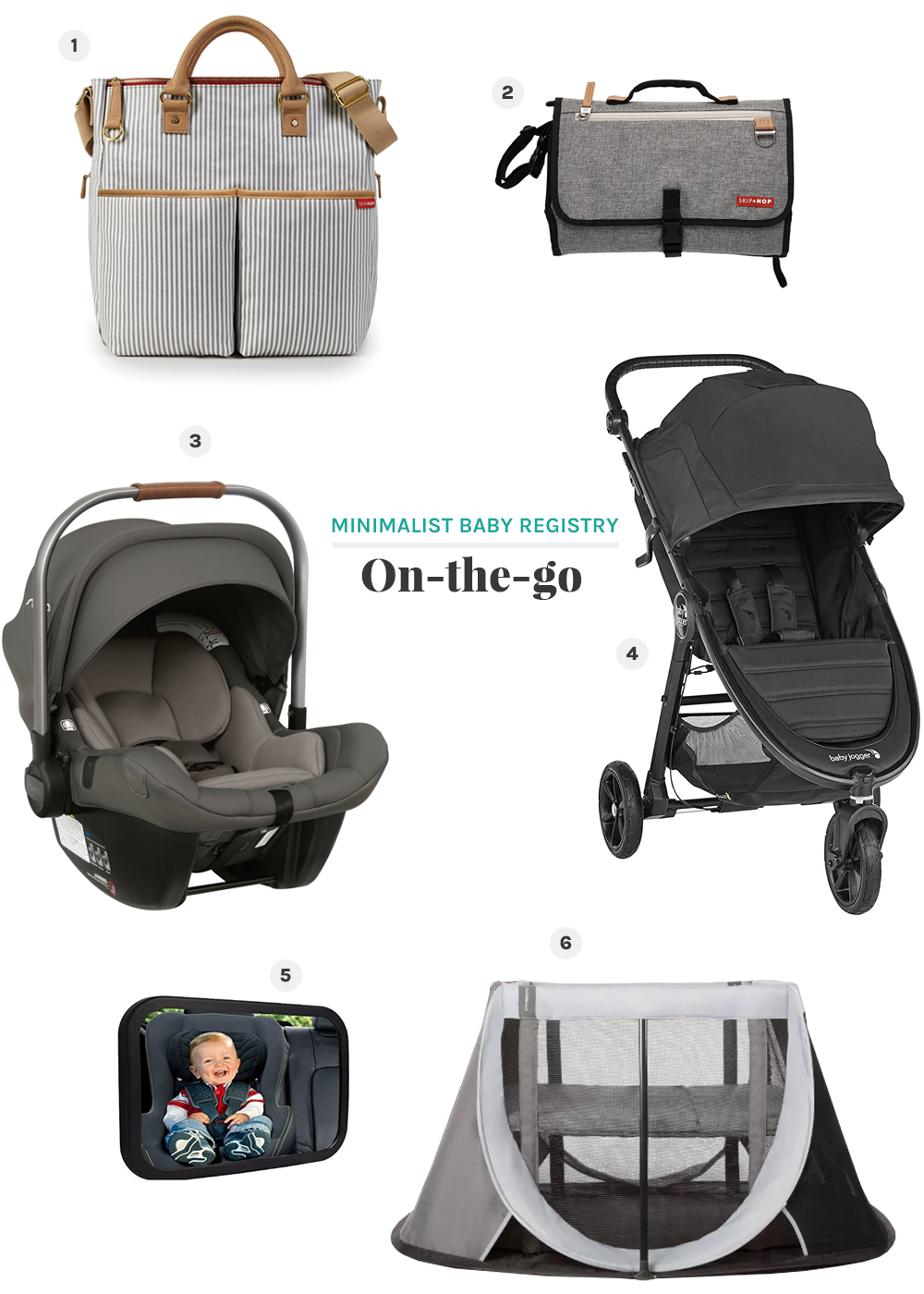 on-the-go minimalist baby registry from the faux martha