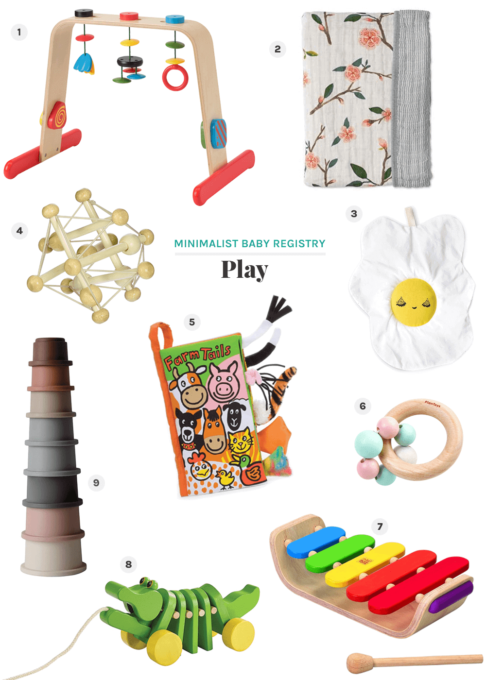 play minimalist baby registry from the faux martha