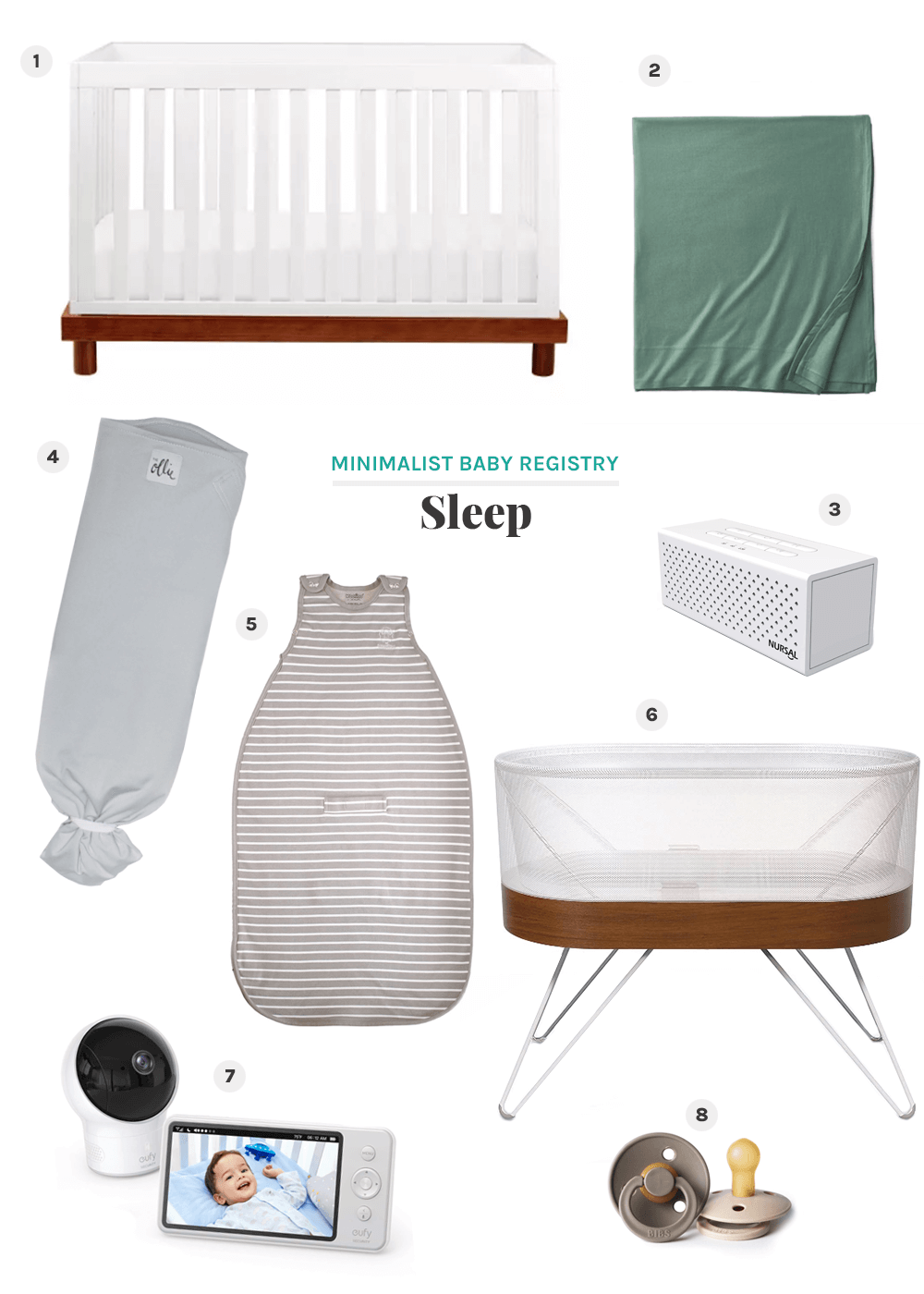minimalist baby registry sleeping items from the faux martha