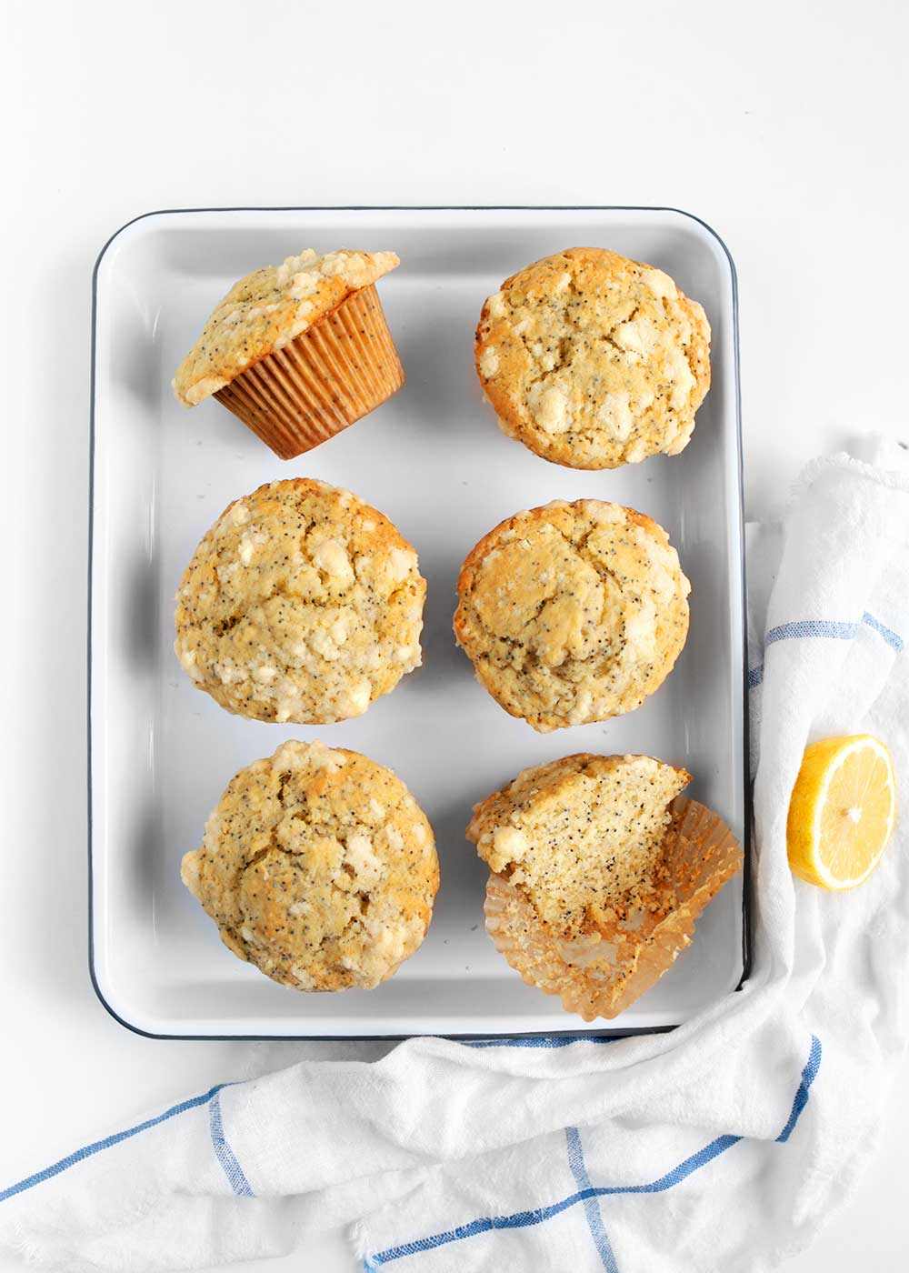 healthy lemon poppy seed muffins from the faux martha