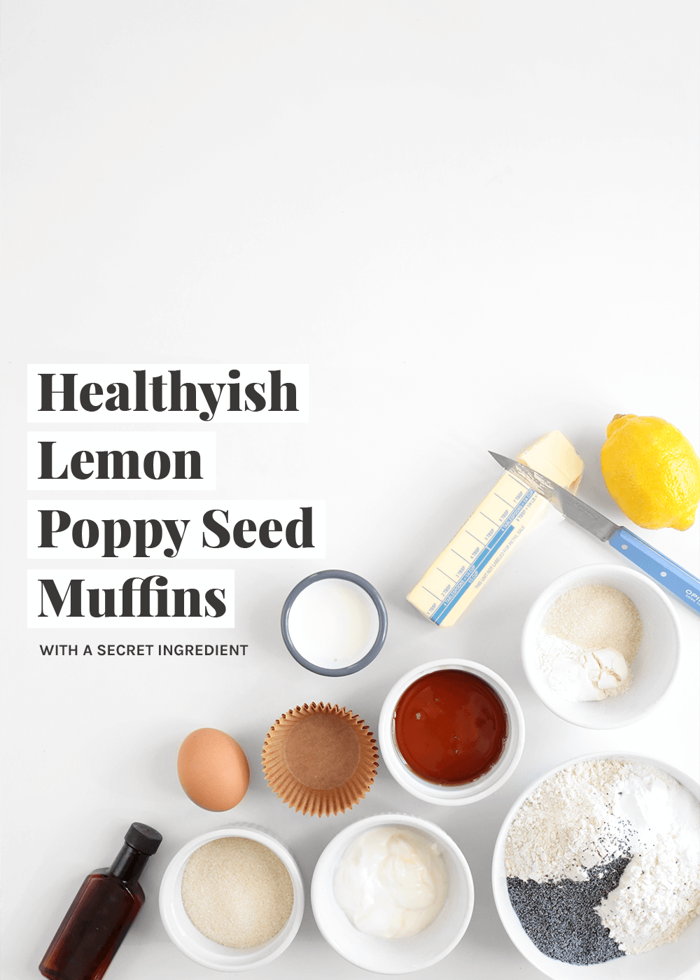 how to make healthyish lemon poppy seed muffins from the faux martha
