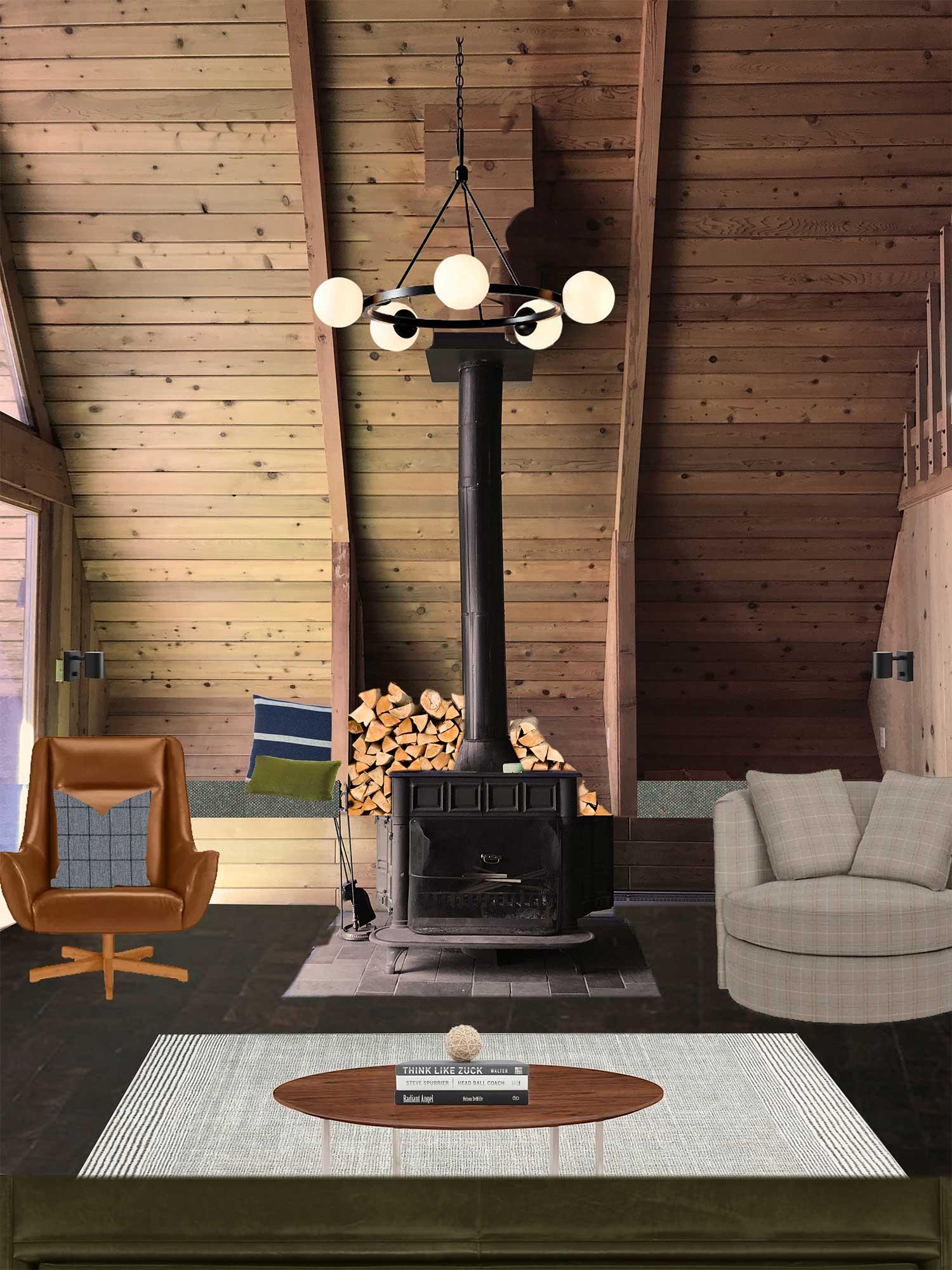 the minne stuga living room mood board