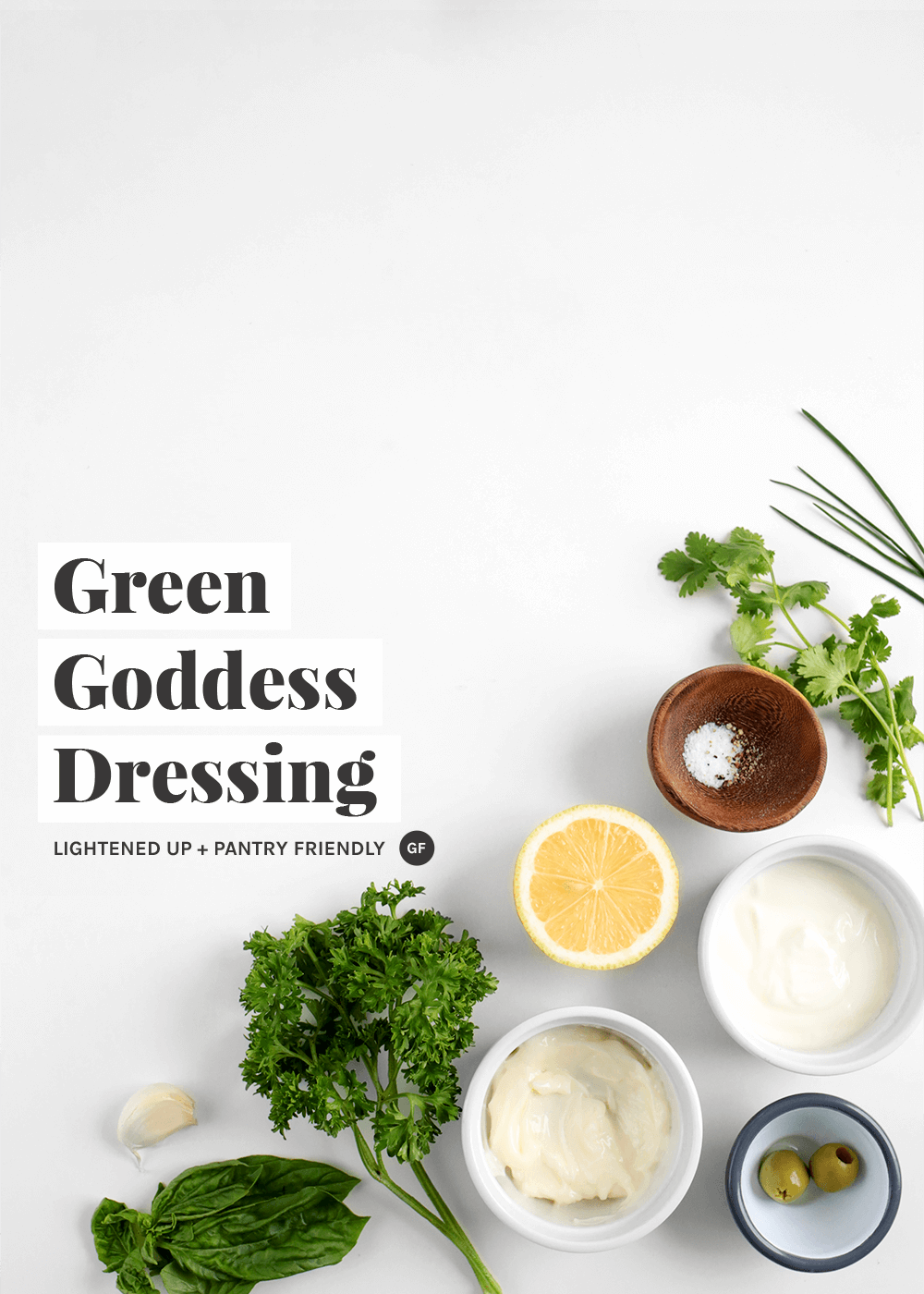 How to make a lightened up green goddess dressing from the faux martha