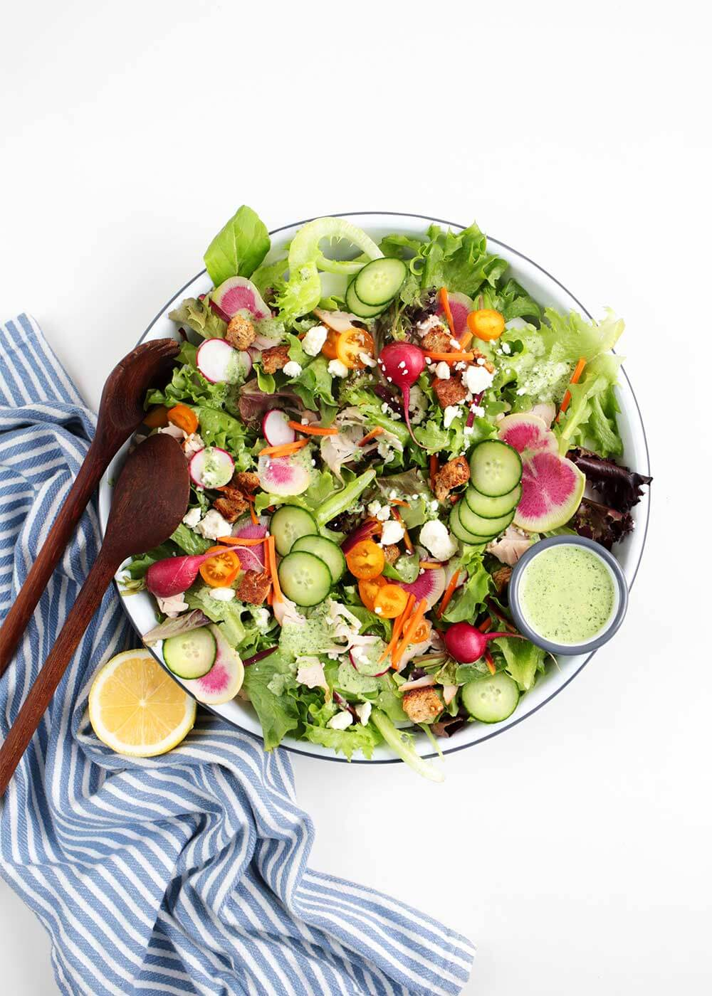 green goddess salad from the faux martha