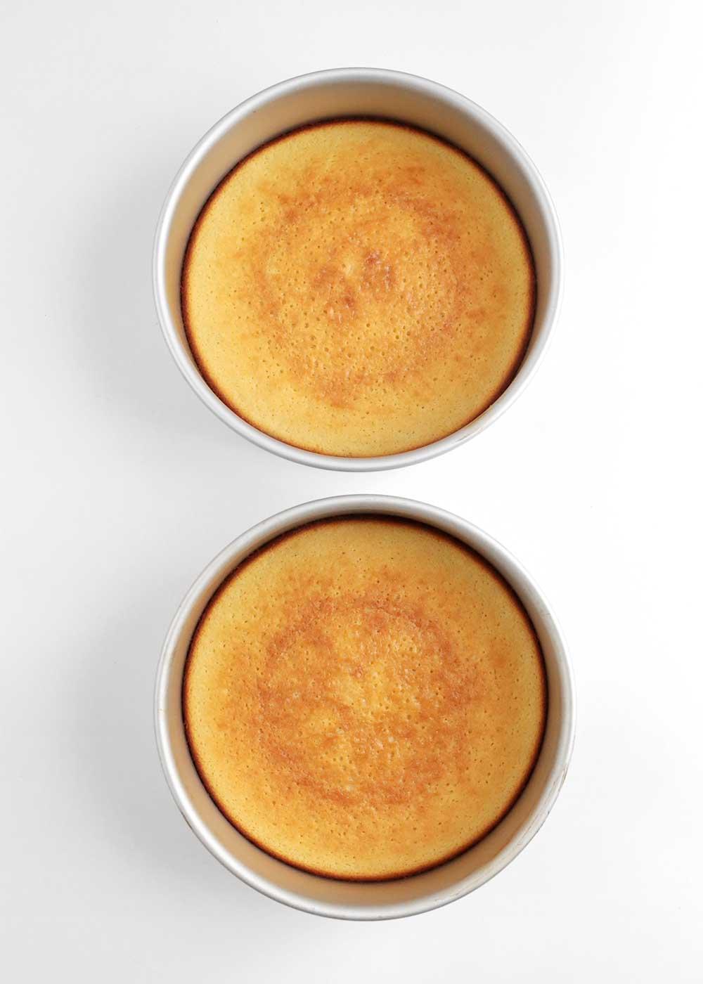 moist vanilla cake from the faux martha